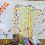 mapa de españa proyecto caja de regalos escuela ideo